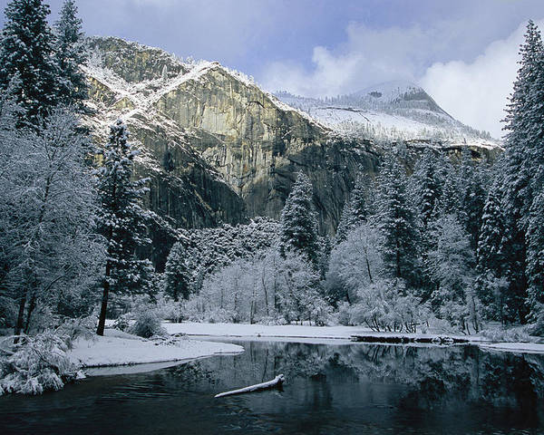 North America Poster featuring the photograph A Winter View Of The Merced River by Marc Moritsch