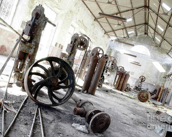 Abandoned Poster featuring the photograph Abandoned Factory by Carlos Caetano