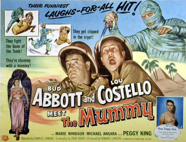 1950s Poster Art Poster featuring the photograph Abbott And Costello Meet The Mummy, Lou by Everett