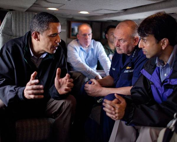 History Poster featuring the photograph Aboard Marine One President Obama Meets by Everett