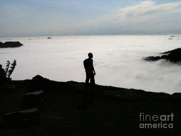 Nature Poster featuring the photograph Above The Clouds by Silvie Kendall