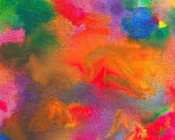 Abstract Poster featuring the photograph Abstract - Crayon - Melody by Mike Savad