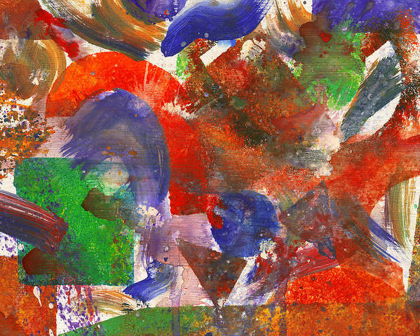 Abstract Poster featuring the photograph Abstract - Acrylic - Synthesis by Mike Savad