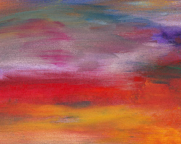 Abstract Poster featuring the photograph Abstract - Guash And Acrylic - Pleasant Dreams by Mike Savad
