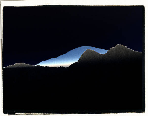 Abstract Poster featuring the photograph Abstract Mountains 2 by Brian Grady