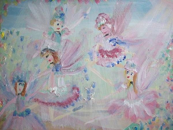 Fairies Poster featuring the painting Act Two Fairies by Judith Desrosiers