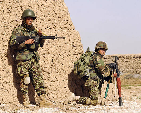 Afghanistan Poster featuring the photograph Afghan Soldiers Conduct A Dismounted by Stocktrek Images
