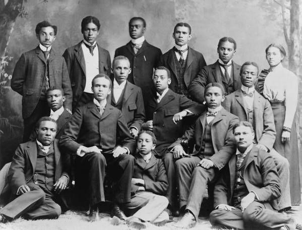 History Poster featuring the photograph African American Academic Students by Everett