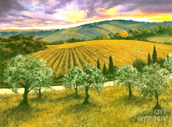 Italy Poster featuring the painting After The Storm Orig. For Sale by Michael Swanson