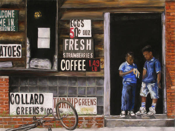 Store Poster featuring the pastel Afternoon Snacks by Ann Caudle
