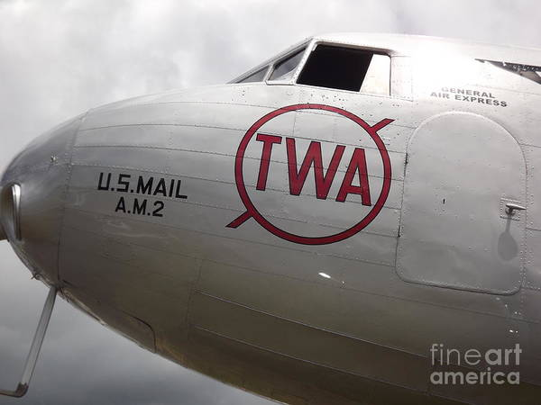 Plane Poster featuring the photograph Air Mail by Bruce Borthwick