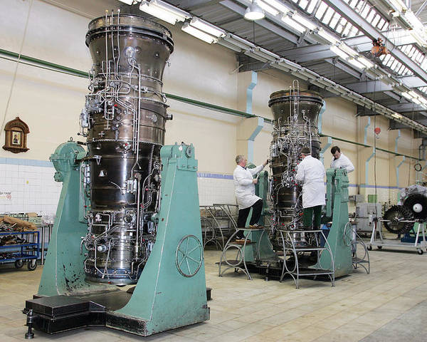 Gas Turbine Poster featuring the photograph Aircraft Engine Construction by Ria Novosti