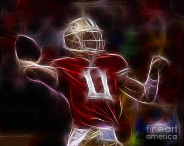 Alex Smith - 49ers Quarterback Poster featuring the photograph Alex Smith - 49ers Quarterback by Paul Ward