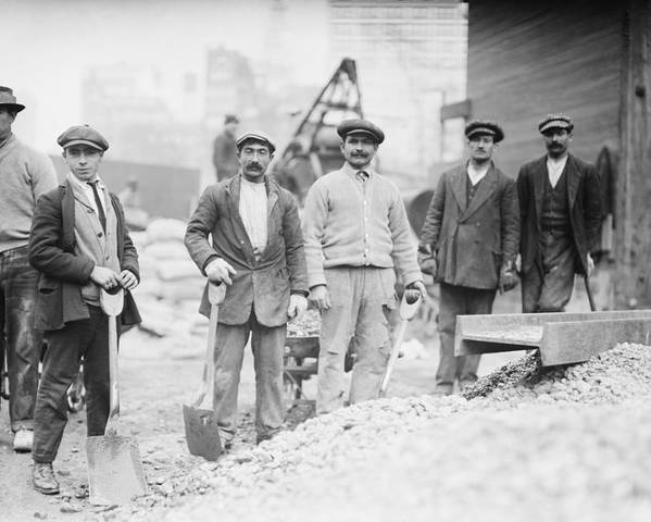 History Poster featuring the photograph Alien Subway Workers With Shovels by Everett