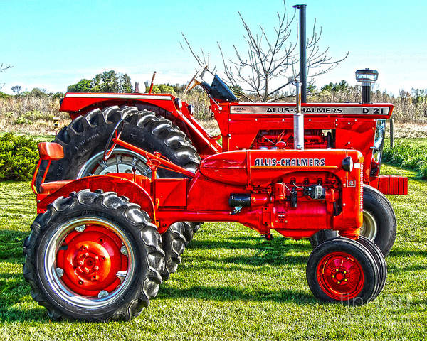 Diane Berry Poster featuring the photograph Allis-Chalmers Tractors by Diane E Berry