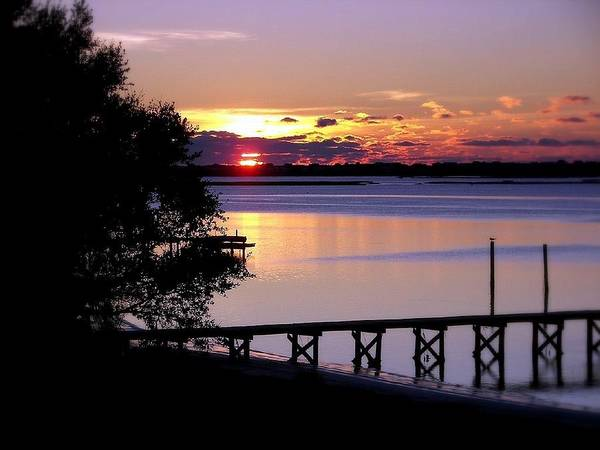 Sunsets Poster featuring the photograph Alone With God by Karen Wiles