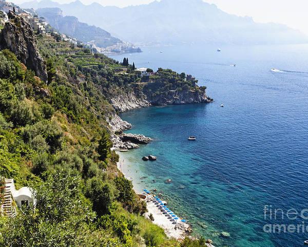Sorrentine Peninsula Poster featuring the photograph Amalfi Coast At Conca Dei Marini by George Oze