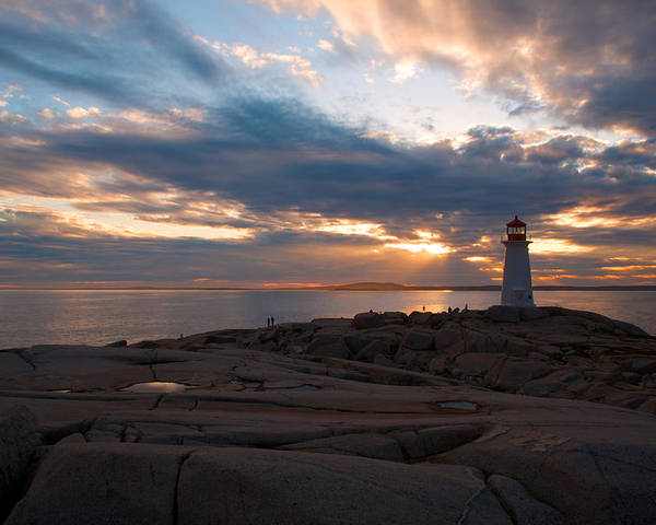 Sunset Poster featuring the photograph Amazing Sunset At Peggy's Cove by Andre Distel