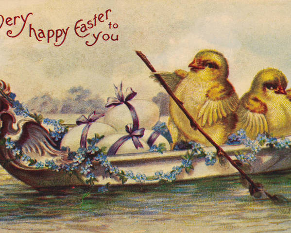 19th Century Poster featuring the photograph American Easter Card by Granger