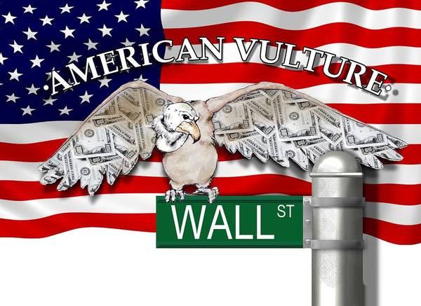 American Vulture Poster featuring the digital art American Vulture by Robert Kirklin