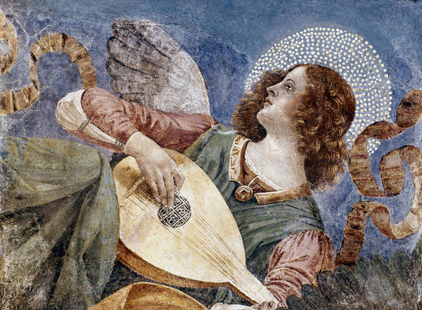 1481 Poster featuring the photograph Angel With A Lute by Granger