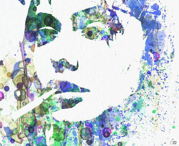 Poster featuring the digital art Angelina Jolie by Naxart Studio
