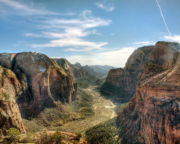 Horizontal Poster featuring the photograph Angels Landing - Zion National Park by Bryant Scannell