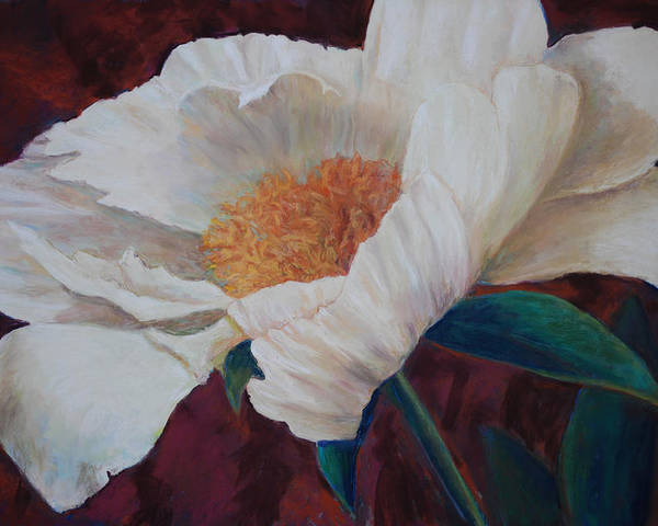 Peony Poster featuring the painting Angels Wing by Billie Colson