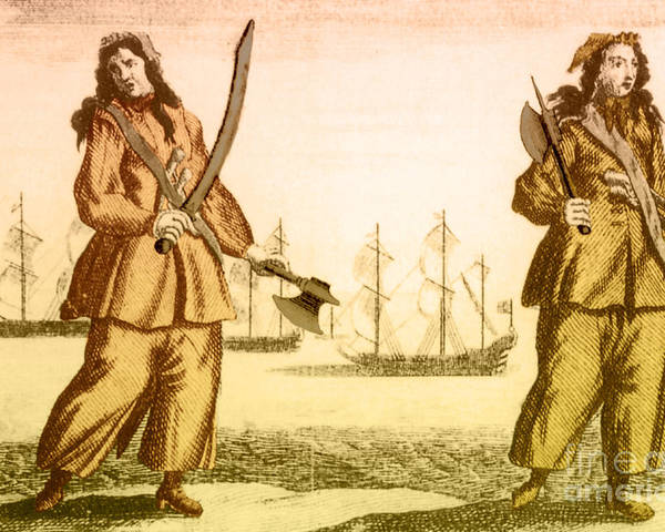 History Poster featuring the photograph Anne Bonny And Mary Read, 18th Century by Photo Researchers