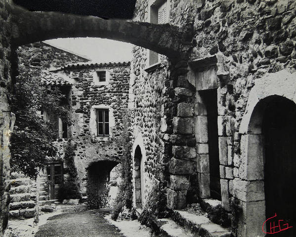 Colette Poster featuring the photograph Another Residence In Childhood Alba France Ardeche by Colette V Hera Guggenheim