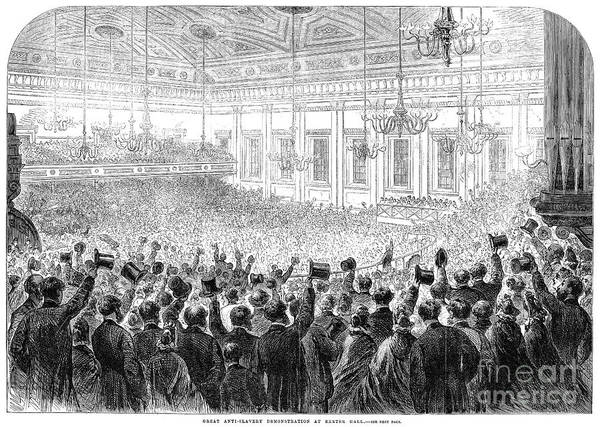 1863 Poster featuring the photograph Anti-slavery Meeting, 1863 by Granger
