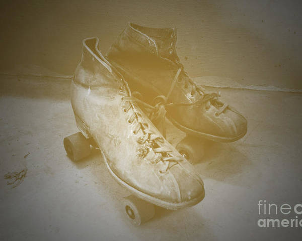 Roller Poster featuring the photograph Antique Roller Skates by Jost Houk