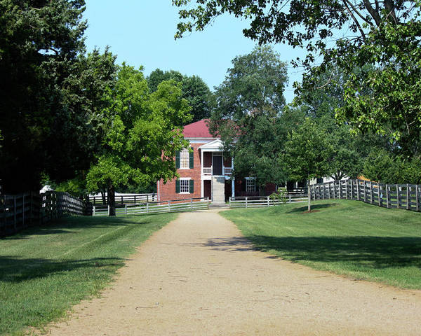 Appomattox Poster featuring the photograph Appomattox County Court House 2 by Teresa Mucha