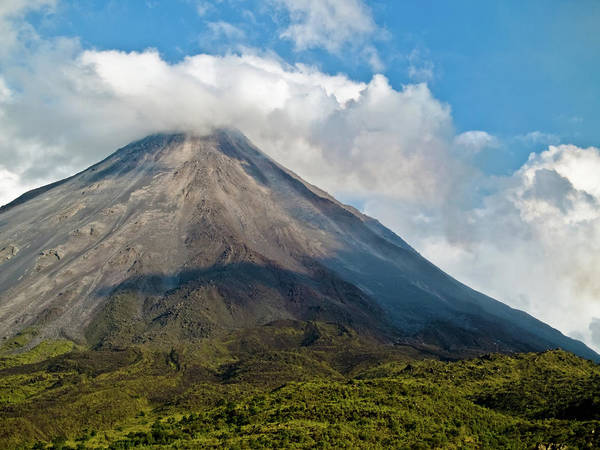 Arenal Poster featuring the photograph Arenal Volcano Costa Rica by Jim DeLillo