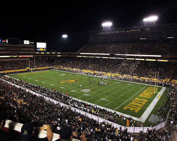 Arizona Poster featuring the photograph Arizona State Sun Devil Stadium by Getty Images