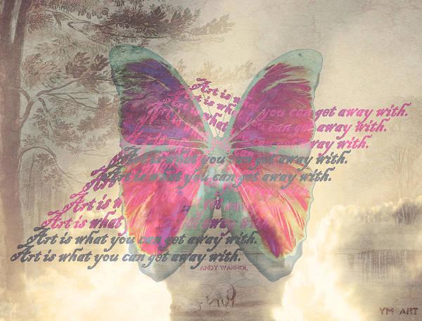 Butterfly Poster featuring the digital art Art Is ..... by Yvon van der Wijk