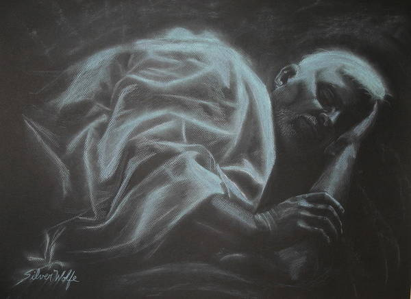 Pastel Poster featuring the pastel Asleep At The Mount Of Transfiguration by Laurie J Penrod