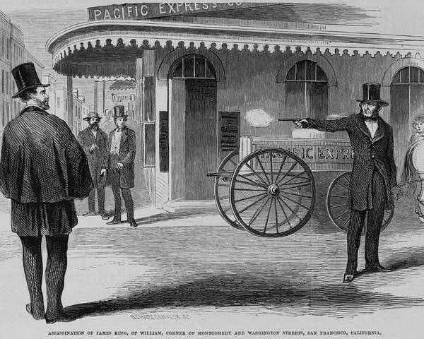 History Poster featuring the photograph Assassination Of James King, Newspaper by Everett