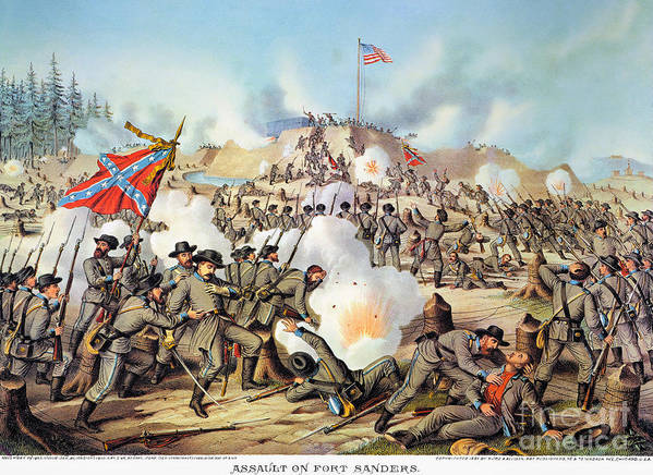 1863 Poster featuring the photograph Assault On Fort Sanders by Granger