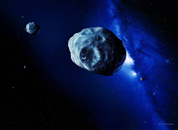 Astronomy Poster featuring the photograph Asteroids by Detlev Van Ravenswaay