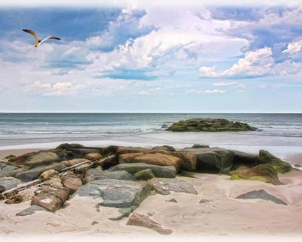 Seascape Poster featuring the photograph At The Beach by Tom York Images