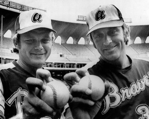 Baseball Uniform Poster featuring the photograph Atlanta Braves Pitchers Joe Niekro by Everett