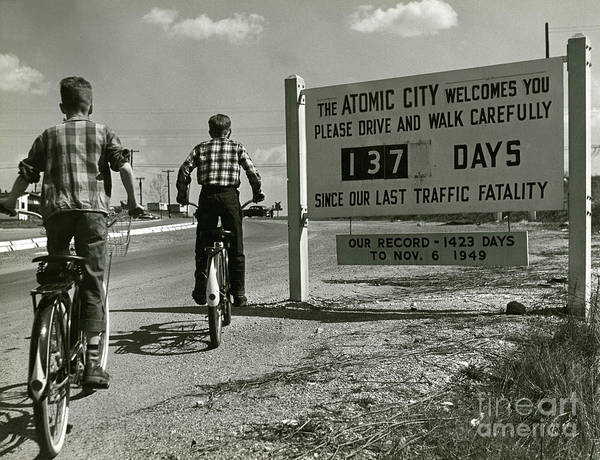 Atomic Poster featuring the photograph Atomic City Tennessee In The Fifties by Tom Hollyman and Photo Researchers