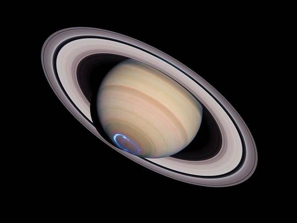 Saturn Poster featuring the photograph Aurora On Saturn by Nasaesastscij.clarke, Boston U.