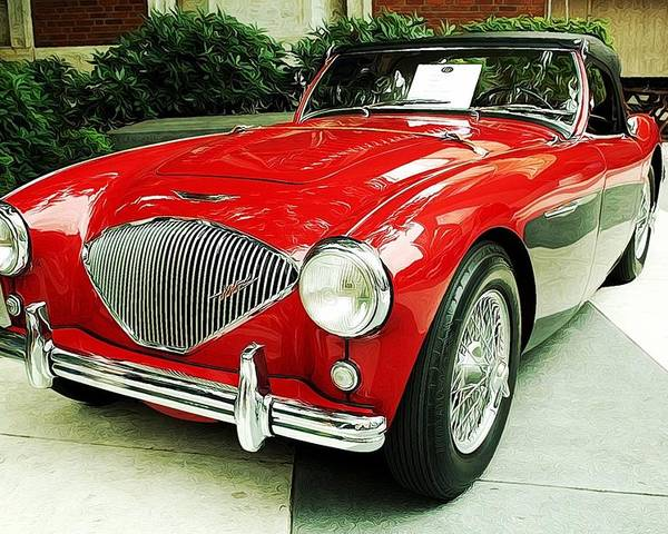 Poster featuring the photograph Austin Healy by Cathie Tyler