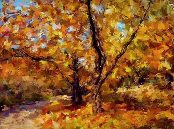 Autumn Poster featuring the digital art Autumn Colors 3 by Yury Malkov
