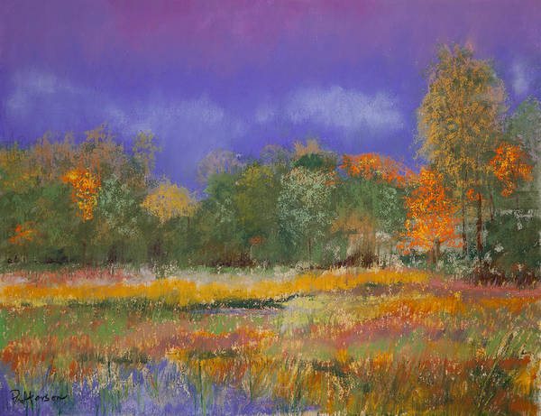 Pastel Poster featuring the painting Autumn In Nisqually by David Patterson