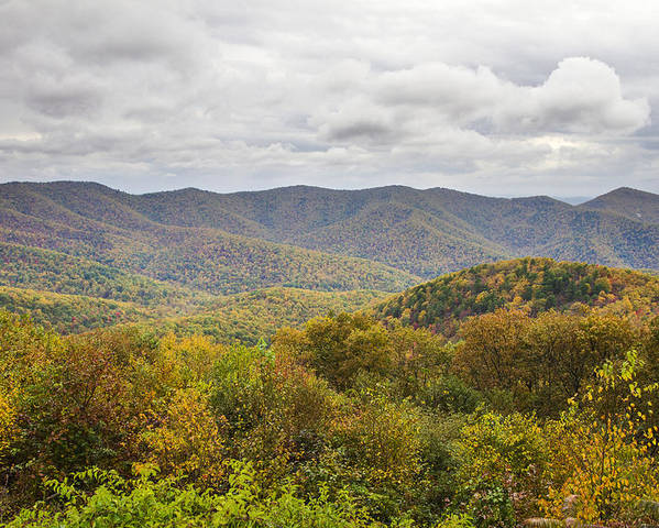 Shenandoah Poster featuring the photograph Autumn In Shenandoah National Park by Pierre Leclerc Photography