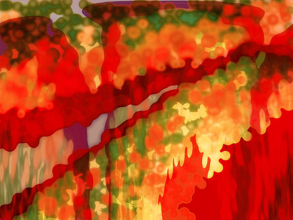 Abstract Poster featuring the digital art Autumn In The Piedmont by Patricia L Conklin