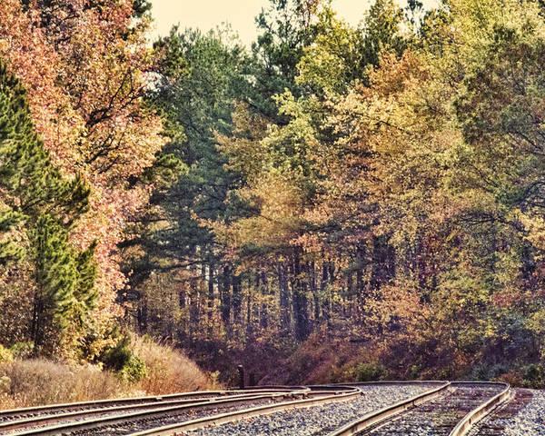 Autumn Poster featuring the photograph Autumn Railroad by Douglas Barnard
